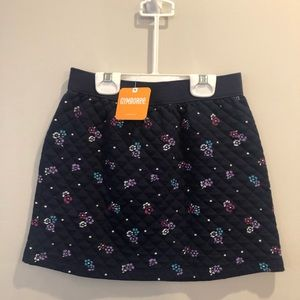 NWT Gymboree quilted navy floral knit skirt; 10.